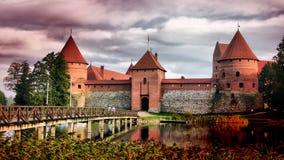 Castelo de Trakai, Lithuania foto de stock