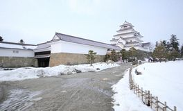 Castelo de Tsuruga-jo Foto de Stock