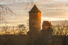 Castelo de Turaida fotografia de stock royalty free