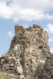 Castelo de Uchisar, Cappadocia, Nevsehir Imagens de Stock Royalty Free