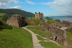 Castelo de Urquhart, Loch Ness, Scotland Foto de Stock Royalty Free