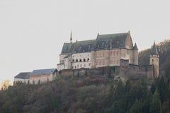 Castelo de Vianden em Luxembourg fotografia de stock