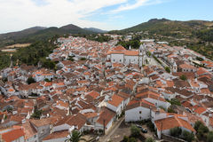 Castelo de Vide. Bird's eye view on Castelo de Vide in Portugal Stock Photography