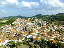 Castelo de Vide. An image photographed by the Castle, showing the small and beautiful village in Alentejo (Portugal Royalty Free Stock Images