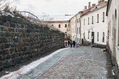 Castelo de Vyborg em uma manhã do inverno Imagem de Stock Royalty Free