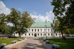 Castelo de w do ³ de Ujazdà em Varsóvia no Polônia, Europa imagem de stock