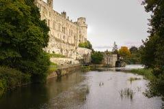 Castelo de Warwick, lado do sudeste fotografia de stock