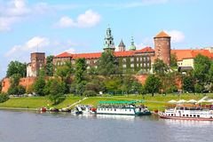 Castelo de Wawel, Cracow, Poland Foto de Stock Royalty Free