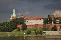 Castelo de Wawel em Krakow poland foto de stock