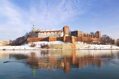 Castelo de Wawel em Krakow, Poland Foto de Stock Royalty Free
