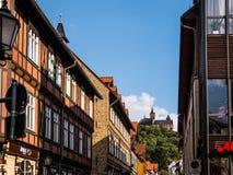 Castelo de Wernigerode da cidade imagem de stock royalty free