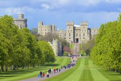 Castelo de Windsor e grande parque, Inglaterra Imagens de Stock Royalty Free