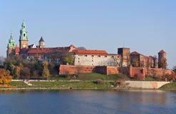 Castelo de Zamek Wawel em Krakow, Polônia fotos de stock royalty free