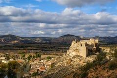 Castelo de Zorita, la Mancha de Castilla, Espanha Fotos de Stock Royalty Free