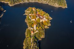 Castelo de Zvikov no sul de Bo?mia em Rep?blica Checa foto de stock