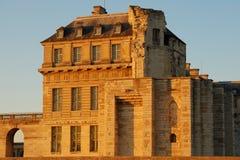 Castelo dentro do sunseet fotos de stock royalty free