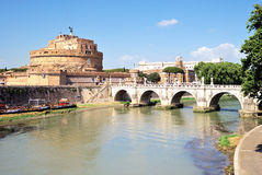 Castelo do anjo de Saint, Roma Fotografia de Stock Royalty Free