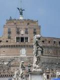 Castelo do anjo santamente em Roma, Itália imagens de stock