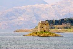 Castelo do assediador em Escócia Fotos de Stock Royalty Free