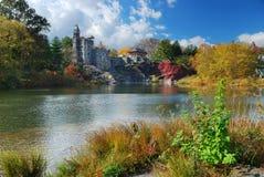 Castelo do Belvedere de New York City Central Park imagem de stock