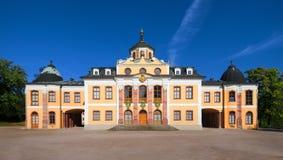 Castelo do Belvedere de Weimar, Thuringia, Alemanha imagens de stock