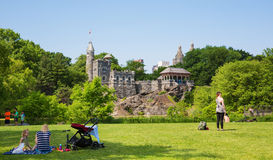 Castelo do Belvedere do Central Park imagem de stock