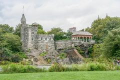 Castelo do Belvedere no Central Park fotografia de stock