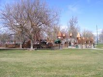 Castelo do campo de jogos no parque Imagens de Stock