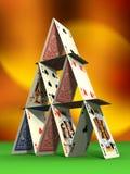 Castelo do cartão Fotos de Stock