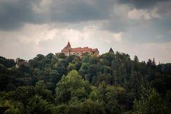 Castelo do castelo, o gótico e do renascimento de Pernstein Imagem de Stock Royalty Free