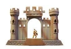 Castelo do cavaleiro do brinquedo fotos de stock