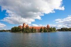 Castelo do console de Trakai imagens de stock royalty free