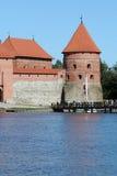Castelo do console de Trakai fotos de stock royalty free