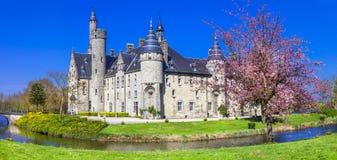 Castelo do conto de fadas Bélgica, Marnix Fotos de Stock