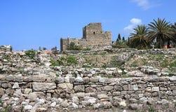 Castelo do cruzado, Byblos (Líbano) Fotos de Stock