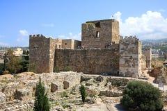 Castelo do cruzado de Byblos, Líbano Fotografia de Stock