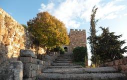 Castelo do cruzado de Byblos, Líbano Foto de Stock