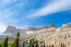 Castelo do cruzado de Kerak, Jordão fotos de stock royalty free