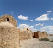 Castelo do deserto de Quseir (Qasr) Amra perto de Amman, Jordânia Imagens de Stock