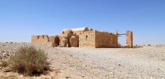 Castelo do deserto de Quseir (Qasr) Amra perto de Amman, Jordânia Imagens de Stock Royalty Free