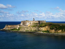 Castelo do EL Moro em San Juan, Puerto Rico Fotografia de Stock Royalty Free