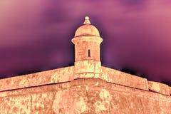 Castelo do EL Morro, San Juan, Puerto Rico Imagens de Stock Royalty Free