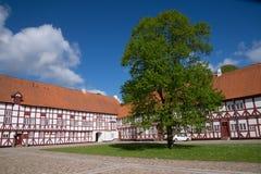 Castelo do entalhe de Aalborghus, Alborgue, Dinamarca Foto de Stock Royalty Free