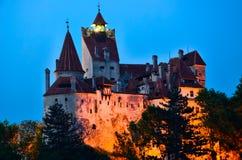 Castelo do farelo - castelo de Dracula da contagem, Romania Imagem de Stock