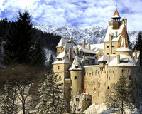 Castelo do farelo de Dracula, a Transilvânia, Romania Fotografia de Stock Royalty Free