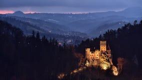 Castelo do farelo, Romênia, a Transilvânia Fotos de Stock