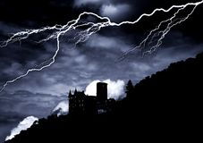 Castelo do horror Fotografia de Stock Royalty Free