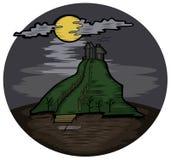 Castelo do horror ilustração royalty free