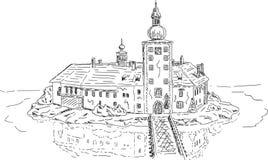 Castelo do lago Ort Imagens de Stock