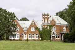 Castelo do mainor de Cervonka em Letónia Fotos de Stock Royalty Free